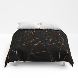 Abstract Threads Calico Dapple Comforters
