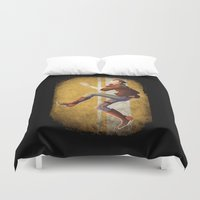borderlands Duvet Covers featuring Doppelganger  by Flashes on Match-heads