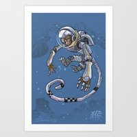 Astro Zodiac Force 09: Monkey Art Print