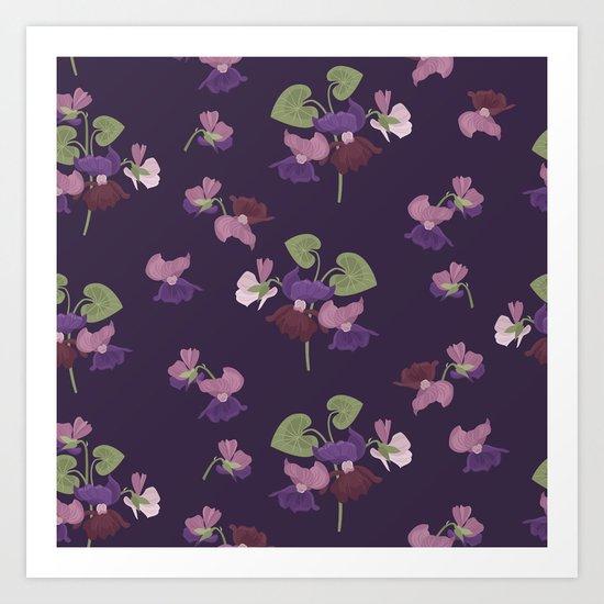 Forest Viola Art Print