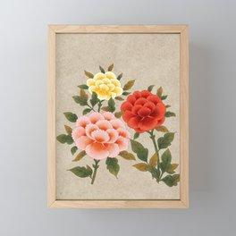 Korea traditional flower art moran Framed Mini Art Print