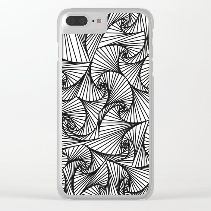 Fractal Sketch Light Clear iPhone Case