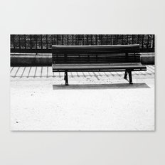 Bench a la Paris. Canvas Print
