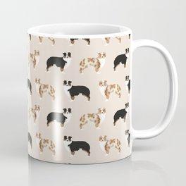 Australian Shepherd - red merle, tri colored dog Coffee Mug