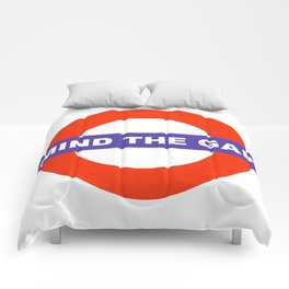 Mind The Gap Logo Comforters