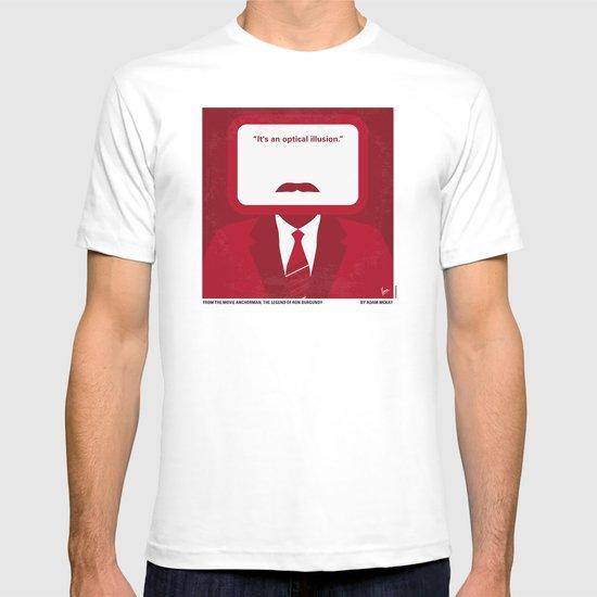 No278 My Anchorman Ron Burgundy minimal movie poster T-shirt