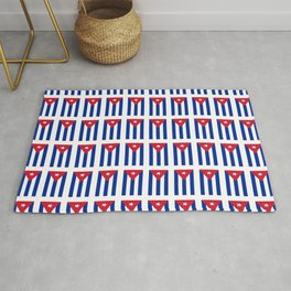 Flag of Cuba 4 -cuban,havana,guevara,che,castro,tropical,central america,spanish,latine Rug