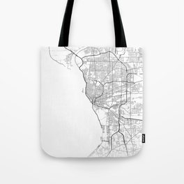 Minimal City Maps - Map Of Buffalo, New York, United States Tote Bag