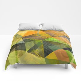 P24 Trees and Triangles Comforters