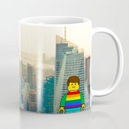 Rainbow Pride mini figures in Stonewall New York for gay pride Coffee Mug