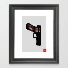 Art not War - Grey Framed Art Print