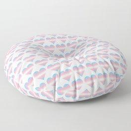 Trans Heart Floor Pillow
