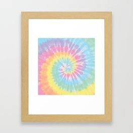 Pastel Tie Dye Framed Art Print