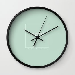 kenny (mint) Wall Clock