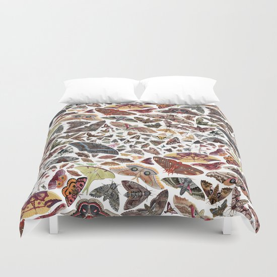 Moths of North Ameica Pattern Duvet Cover