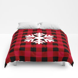 Red Buffalo Check - snowflake - more colors Comforters