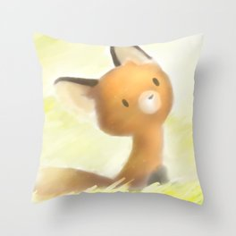 Mocha the red fox Throw Pillow