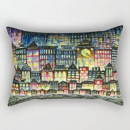 Crowded Haunts Rectangular Pillow