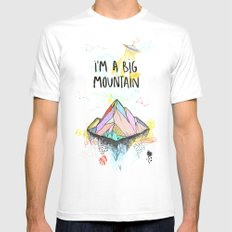 Big Mountain MEDIUM White Mens Fitted Tee