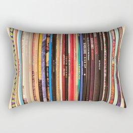 Indie Rock Vinyl Records Rectangular Pillow