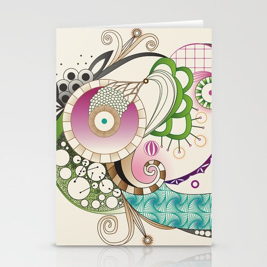 Autumn tangle, sienna - purple color set Stationery Cards