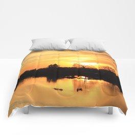 Floodplain at Sunset 3 Comforters
