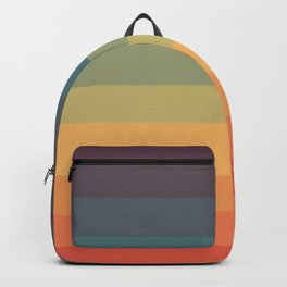 Colorful Retro Striped Rainbow Backpack