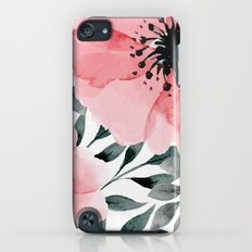 Big Watercolor Flowers iPod touch Slim Case