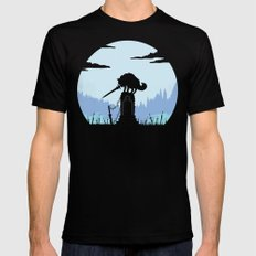 Grey Wolf Sif (Dark Souls) Black Mens Fitted Tee LARGE