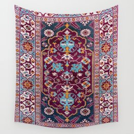 Romanian  Antique  Double Niche Carpet Wall Tapestry