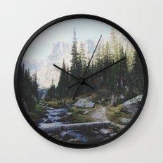 Rocky Mountain Creek Wall Clock