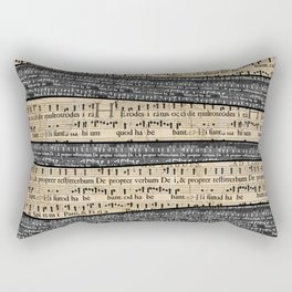 Rustic Antique Music Sheets Rectangular Pillow