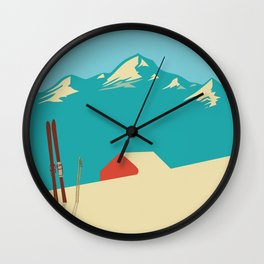 Vintage Mountains Wall Clock
