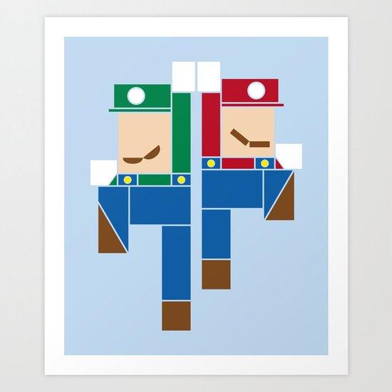 Super Bro High Five Art Print