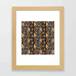 African mud cloth Mali Framed Art Print