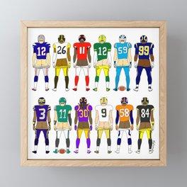 Football Butts Framed Mini Art Print