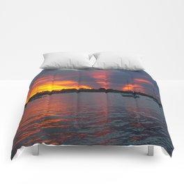 Jensen Beach Sunset Comforters