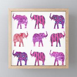 Pretty in Pink Elephant Print Framed Mini Art Print