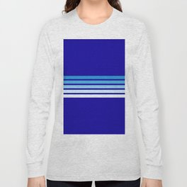 Retro Stripes on Blue Long Sleeve T-shirt