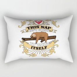 This Nap Is Not Going To Take Itself Sloth Gift Rectangular Pillow