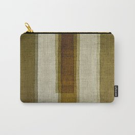 """Burlap Texture Greenery Columns"" Carry-All Pouch"