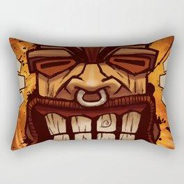 Happy Tiki Rectangular Pillow