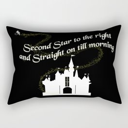 Tinkerbelle Peter Pan Second Star to the Right Rectangular Pillow
