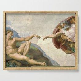 Michelangelo - Creation of Adam Serving Tray