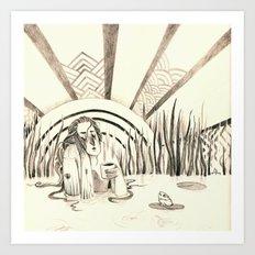 river lady Art Print