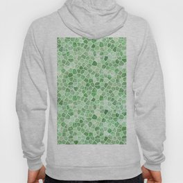 Pale Emerald and Pistachio Cobbled Patchwork Hoody