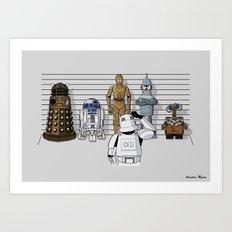 Star Wars Droid Lineup Art Print