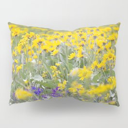 Meadow Gold - Wildflowers in a Mountain Meadow Pillow Sham