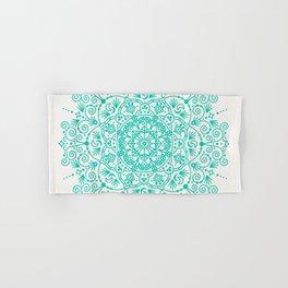 Moroccan Mandala – Turquoise Palette Hand & Bath Towel