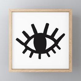 Open Eyes Framed Mini Art Print
